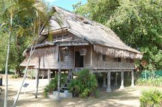 Panoramio - Photo of Traditional Malay house Timber Architecture, Asian Architecture, Vernacular Architecture, Contemporary Architecture, Roof Styles, House Styles, Jungle House, Bamboo House, Surf Shack