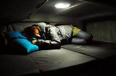 Sleeping area of the Renault Kangoo Camper TravelPack