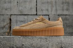 f38119c934e294 nouvelle arrivee Puma Suede Creepers 361005-03 Gum Gum Womens Fashion Shoes  Sneakers Youth Big
