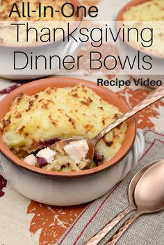 Watch our recipe video for these tasty All-In-One Thanksgiving Dinner Bowls and use up your leftovers. They're perfect for the holidays, too! Visit http://www.canadianturkey.ca/recipe-category/leftovers/ to find more delicious recipes to make from your roast turkey leftovers!