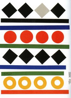 American Graphic Design | A Paul Rand designed IBM folder 1984.