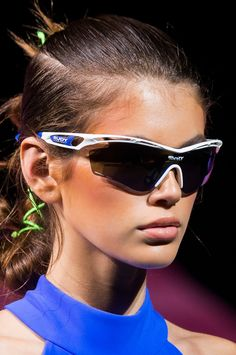 fc6f21f44b27 All the Best Statement Sunglasses From the Spring 2018 Runways