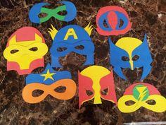 Superhero masks for Ace's birthday