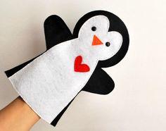 Penguin Puuppet Pattern Felt Penguin Pattern Diy Pattern