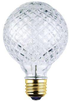 40 Watt G25 Eco-Halogen Cut Glass Light Bulb, 2850K E26 (Medium) Base, 120 Volt, Box