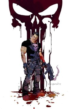 """(Frank Castle aka The Punisher) """"Painting the Town Red"""" by Cary Nord Marvel Comic Character, Comic Book Characters, Comic Book Heroes, Marvel Characters, Comic Books Art, Comic Art, Marvel Comics, Heros Comics, Comics Anime"""