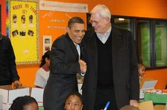President Barack Obama and Phil Jackson trade jokes about Kwame Brown (Andrew D. Bernstein/ Getty).