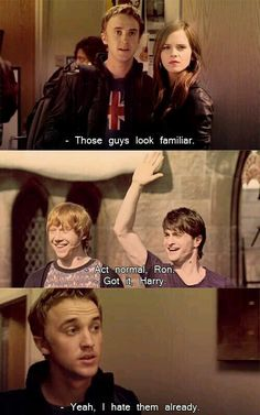 daniel radcliffe, tom felton, emma watson, and isn't Ron's name Rupert?