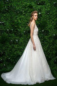 8a5eaebdd290 Enaura bridal 0132723. Bridals By LoriWhite CarnationPlunging NecklineBridal  CollectionBall GownsBodiceHigh FashionWedding GownsEmbellishments