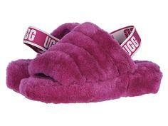 UGG Australia Fluff Yeah Slide Sheepskin Slipper for women Fuchsia *Authentic* Pink Ugg Slippers, Womens Slippers, Slippers Crochet, Sheepskin Slippers, Cute Slides, Pink Uggs, Luxury Shoes, Ugg Australia, Slipper