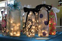 Wine bottle lamps!