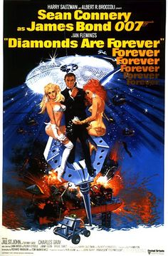 Diamonds Are Forever Movie Poster.