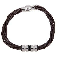 Buy John Lewis Multi Strand Leather & Steel Bracelet, Brown Online at johnlewis.com