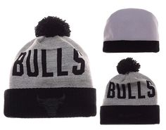 the latest 24994 89f98 Mens   Womens Chicago Bulls Mitchell and Ness NBA Team Color Jacquard  Stripe Pom Knit Beanie