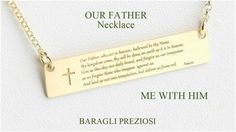 Our Father Prayer's Necklace, Me with Him Necklace, Faithful Necklace, Bridal Party Gift, Personalized Gift, Italian Handmade Jewelry, 0754