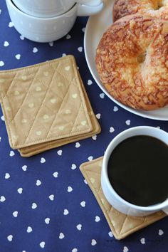 DIY Quilted Coaster Tutorial #sewing