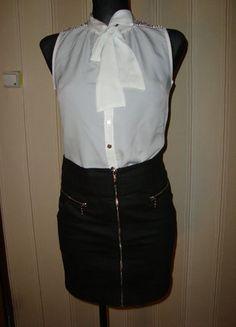 #czarnaspodniczka #spodniczka #zip #woskowana #eleganckaspodniczka #elegancja #klasyka #klasyczaspodniczka #zkieszeniami #mohito #rozmiar34 #sprzedam #wymienie #wyprzedazszafy
