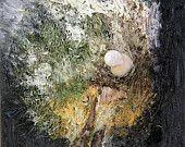 Herbststimmung ist ein Ölgemälde des Künstler Ralf Czekalla, Ölmalerei auf Leinwand, gerahmt, 20cm x 20cm, signiert und datiert 2014