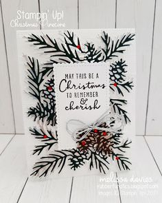 Painted Christmas Cards, Beautiful Christmas Cards, Stampin Up Christmas, Christmas Cards To Make, Xmas Cards, Holiday Cards, Homemade Christmas, Christmas Pine Cones, Christmas Trees