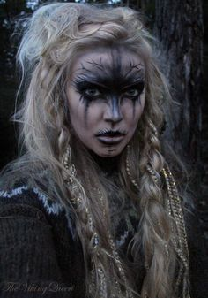 Graphic's Cork Pictish Warrior, Viking Warrior Woman, Warrior Women, Viking Cosplay, Viking Costume, Viking Face Paint, Viking Makeup, Dark Angel Costume, Warrior Makeup