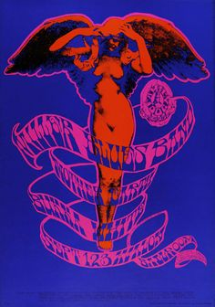The Steve Miller Blues Band Psychedelic sixties. Art by Stanley Mouse & Alton Kelley.