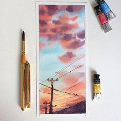Watercolorist: @mamabelle_art #waterblog #акварель #aquarelle #drawing #art #artist #artwork #painting #illustration #watercolor #aquarela