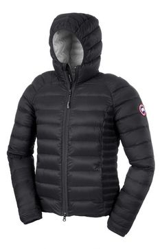 'Brookvale' Packable Hooded Quilted Down Jacket, Black. Canada gooseCanada ...