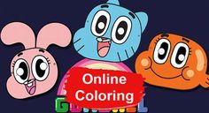 The Amazing World of Gumball Online Coloring Pages Print Pictures, Colorful Pictures, Cool Pictures, Cartoon Pics, Cartoon Characters, Cool Masks, Awesome Masks, Online Coloring Pages, World Of Gumball