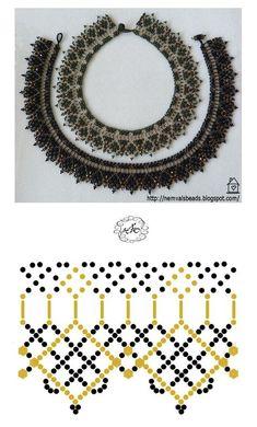 Diy Necklace Patterns, Beaded Jewelry Patterns, Beading Patterns Free, Handmade Beads, Jewelry Making Beads, Bead Weaving, Beaded Earrings, Crochet, Inspiration