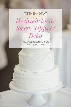 Bereits seit dem 19. Jahrhundert gibt es den Brauch der Hochzeitstorte. Wir haben Tipps sowie 15 wunderschöne Hochzeitstorten zusammengesucht. Kreative Desserts, Cake, Food, Cake Wedding, Kustom, Tips, Ideas, Pie Cake, Meal