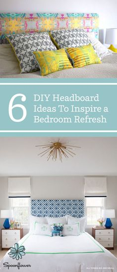 Want to know one way to add a bold pop of color or pattern to spruce up your bedroom? A DIY headboard! To help you find inspiration for your ultimate oasis, we've rounded up six tutorials and our go-to fabrics for this weekend project. Rental Home Decor, Easy Home Decor, Headboard Ideas, Diy Headboards, Average Person, Bedroom Décor, Diy Pins, Home Decor Inspiration, House Colors