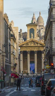 Notre Dame de Lorette et Sacré Coeur, Paris, France 9e