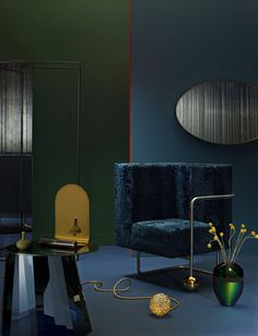 "<p>Thibaut Mathieu, creative director at AD magazine – the French version of Architectural Digest – recently collaborated with interior stylist Aurore Lameyre and photographer Peter Langer to give their own interpretation of this season color trends. Composed of ""bubble soap"" shades, sharp blues, deep green and bloody reds punctuated with velvets and metallic radiance with copper…</p>"