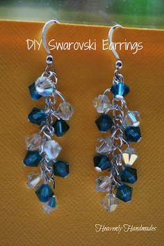 Heavenly Handmades: DIY Swarovski Earrings