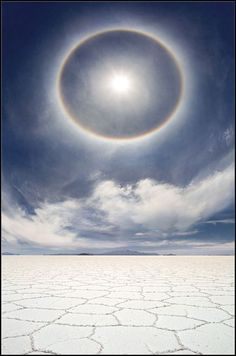 "munan15: ""A very rare and beautiful photo of a circular rainbow over the salt marshes of Bolivia """
