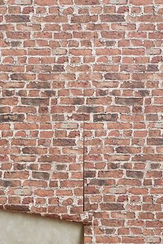 Brick-By-Brick Wallpaper #anthropologie