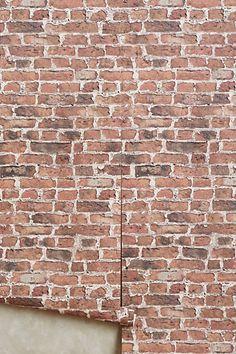 Brick-By-Brick Wallpaper - anthropologie.com