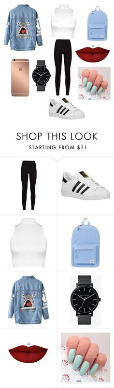 """""""Mall trip"""" by erica-ballard ❤ liked on Polyvore featuring adidas Originals, WearAll, Herschel Supply Co., Chicnova Fashion, Mura, The Horse and Anastasia Beverly Hills"""