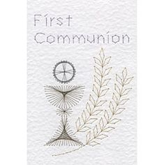 First Communion | Religious e-patterns at Stitching Cards.
