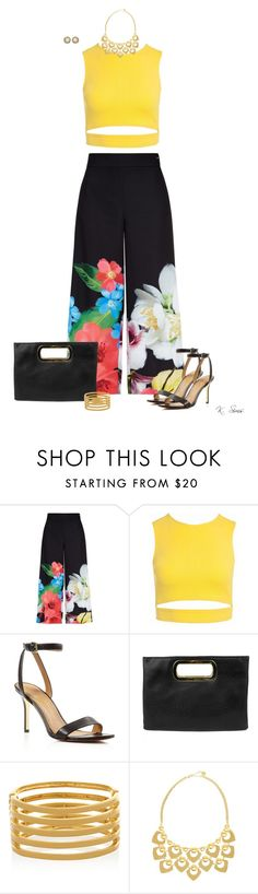 """Floral"" by ksims-1 ❤ liked on Polyvore featuring Ted Baker, Sans Souci, Tory Burch, Gunne Sax By Jessica McClintock, Kenneth Jay Lane, Trina Turk and Kendra Scott"