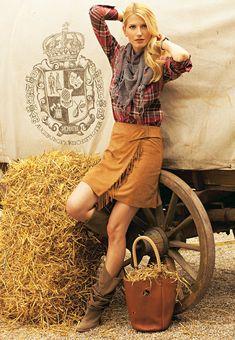 Leather Fringe Skirt 02/2010