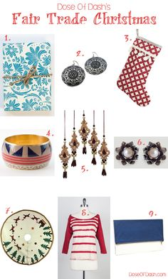 A chic #FairTrade holiday gift guide from DoseOfDash.com