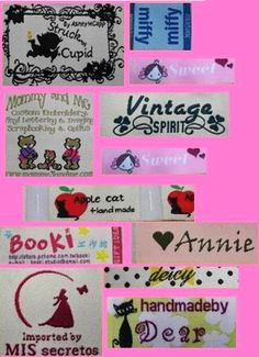 600 pcs custom woven labels your artwork - DIY Paper Crafts for 2014 Party - WOW ! Great ideas of paper crafts that kids can learn 2014 by andrea_zmalik