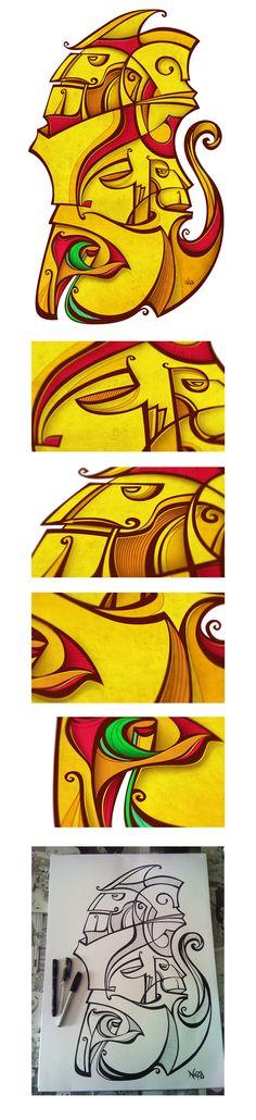 Constructing a toten under the flowers by Antonio de Padua Neto78, via Behance