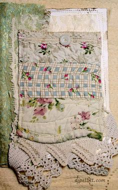 Lace...quilt...fabric journal