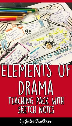Elements of Drama Complete Teaching Pack, Task Cards, Quiz, Sketch Notes, Games - Middle School English Language Arts - Yorgo Angelopoulos Drama Teacher, Drama Class, Drama Drama, Drama Stage, Acting Class, Middle School Drama, Middle School English, High School, Drama Activities