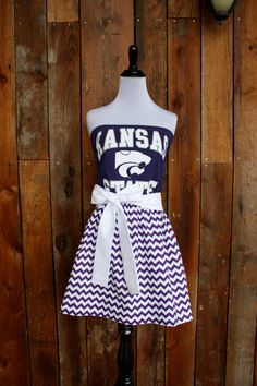 Kansas+State+KSU+Wildcats+Game+Day+Dress++Size+by+jillbenimble,+$52.00