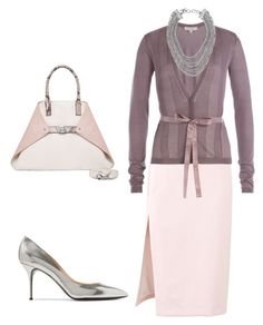 """""""Office Wear"""" by arta13 ❤ liked on Polyvore featuring MSGM, Etro, Akris, Casadei and David Yurman"""