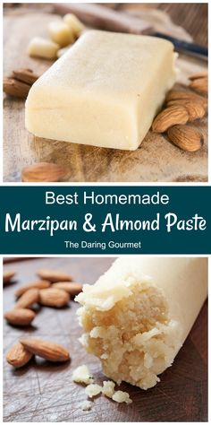 BEST Marzipan and Almond Paste Recipe - The Daring Gourmet Many Marzipan Candy & Cookie recipes Candy Recipes, Sweet Recipes, Holiday Recipes, Dessert Recipes, Dessert Bread, Just Desserts, Delicious Desserts, British Baking, Almond Recipes
