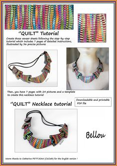 ''QUILT'' Tutorial Clay Tutorials, Quilt Tutorials, Polymer Clay Necklace, Plaque, My Photos, Quilts, Necklaces, Sculpture, French